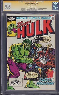 "The Incredible Hulk #271 ""First Rocket Raccoon"" in Comics Signed by Stan Lee CGC"