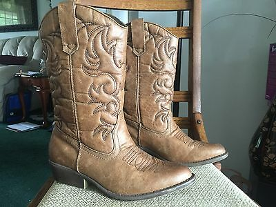 Women's Western Cowboy Boots Pull On Cowgirl RODEO ROPERS BOOTS Size 7W