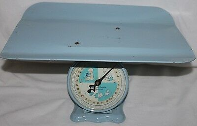 VINTAGE Retro Baby SCALE 50'S 60'S BLUE 30 pounds PHOTO OP