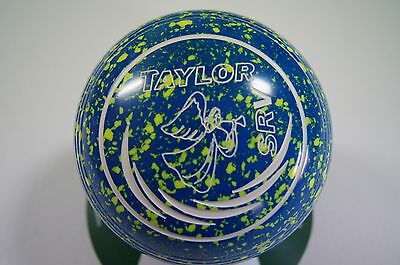 New Taylor SRV Lawn Bowls, Bag & Cloth Package - Blue/Yellow - Size 1 - WB26