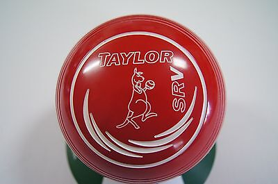 New Taylor SRV Lawn Bowls, Bag & Cloth Package - Red - Size 1 - WB26