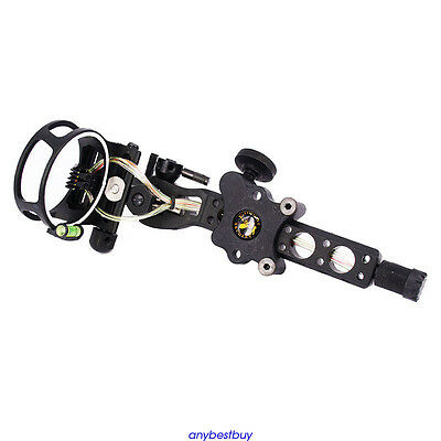 Bow Sight with Micro Adjust Detachable Bracket, Sight Light for Compound Bow