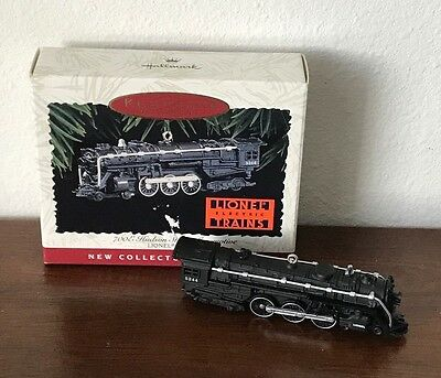 1996 Hallmark Ornament Keepsake Lionel 700E Hudson Steam Locomotive Train w/ Box