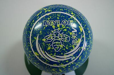 New Taylor SRV Lawn Bowls, Bag & Cloth Package - Blue/Yellow1 - Size 1 - WB26