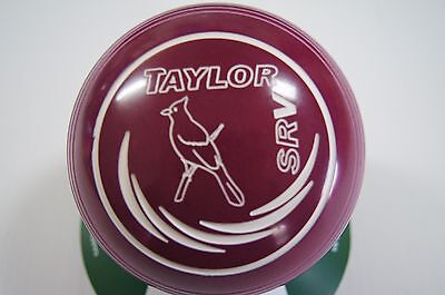 New Taylor SRV Lawn Bowls, Bag & Cloth Package - Plum - Size 0 - WB26