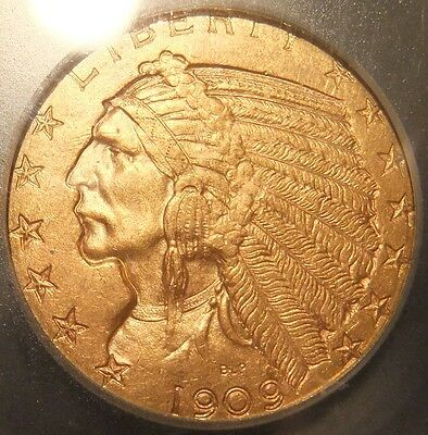 1909 $5 Gold Indian Coin...ICG MS 64