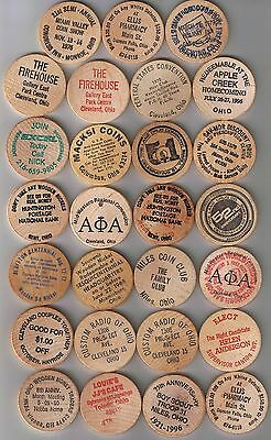Lot of 27 OHIO Wooden Nickels