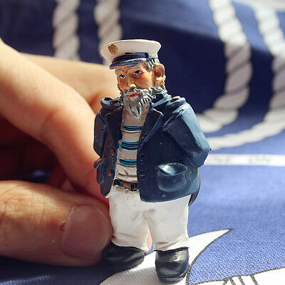 Germany Old Captain 3D Resin Decorative Fridge Magnet Craft
