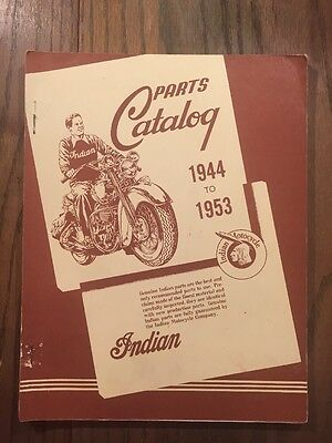 Indian Motorcycle Parts Catalog 1944-1953 Manual