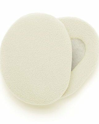 Earbags Bandless Fleece Ear Warmers - Medium - Cream - NEW