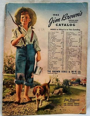 The Brown Fence Company Jim Brown's Advertising Sales Catalog 1942 Wwii Vintage