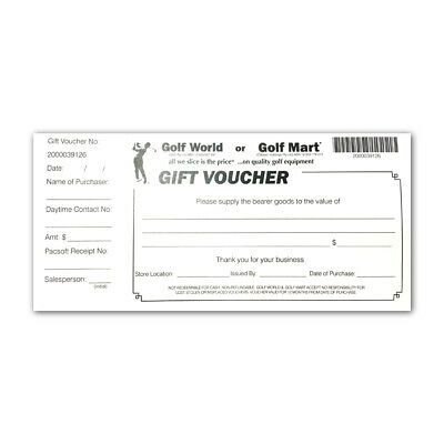 NEW Golf World & Golf Mart In-store Gift Voucher