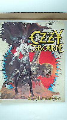 Neat Vintage rock and roll Ozzy Osbourne 1986 The Ultimate Sin Banner