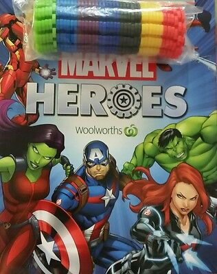 Marvel Heroes Discs Woolworths 2017 Completed set of 42 includes Album