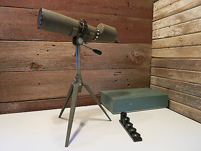 Vintage DAYLITE With 5 Lances 15x-60x Spotting Scope With Stand - ALL ORIGINAL!