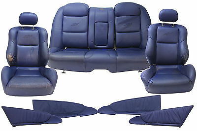 VY SS Seat Package Holden Commodore Sedan Blue Leather Genuine 92146054 Suit VX