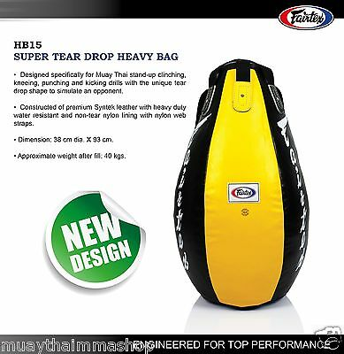 NEW FAIRTEX SUPER TEAR DROP MUAYTHAI Boxing Heavy Bag HB15 UnFilled