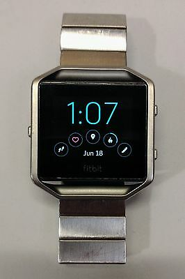 Fitbit Blaze Fitness Watch, Black / Stainless Steel, Large + EXTRAS!