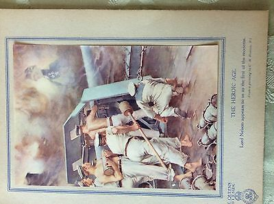 a2i ephemera ww1 1917 book plate admiral lord nelson inspires the navy padday c