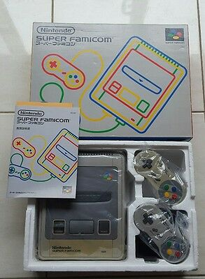 Nintendo Super Famicom console boxed with baggies and manual