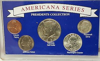 1964 United States UNC Silver Coins - Americana Series President Collection 90%