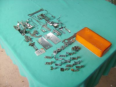 """""""ANTIQUE"""" SEWING MACHINE ACCESSORIES,Bobbins ,Needles,Gear for Fancy Stitching"""