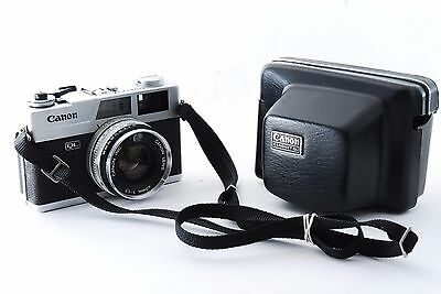 """Canon Canonet QL17 35mm Rangefinder Film Camera w/ Case """"Excellent"""" From Japan"""