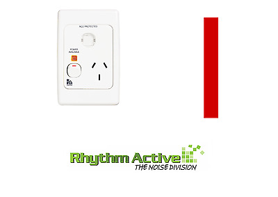 Clipsal Medilec 2015/15Vi Single Switched Rcd Protected Power Wall Socket 15A