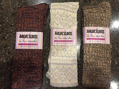 """MukLuks """"A-La-Mode"""" Over The Knee Socks Super Soft 2 pr or 3 pr New With Tags"""
