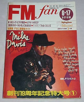 FM fan Japan magazine book 1985 13 ! Miles Davis Deep Purple Queen Pete Burns