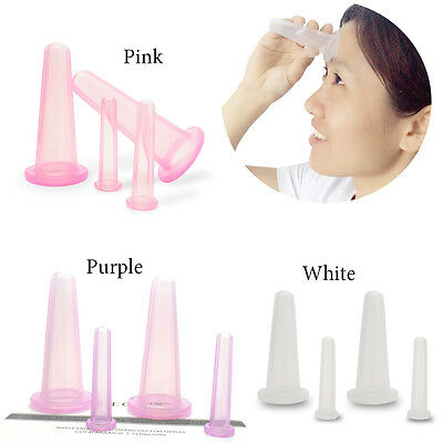 SPEQUIX 4X Face & Eye Cupping Therapy Massage Set  Silicone Vacuum Cups 2 Sizes