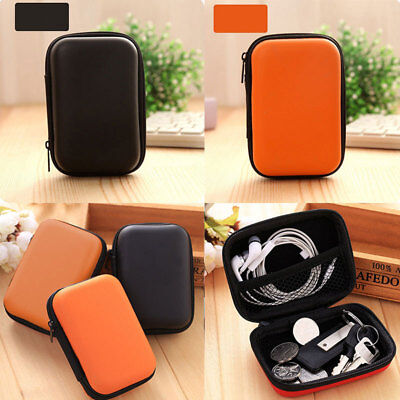 Black Waterproof Carrying Case Box Headset Earphone Earbud Storage Pouch Bag NEW