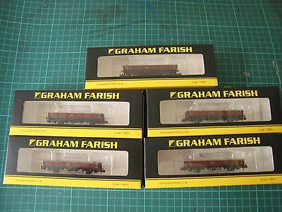 Graham Farish N Gauge  OCA Open Wagons EWS x 5 377-552B