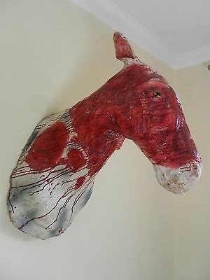 Vintage Life Size Latex Horror Zombi Horse Head Film Prop Mexican Film ?