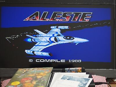 MSX 2 ALESTE COMPILE Used Video Game Shooter Rare Japan JP EMS Free in stock