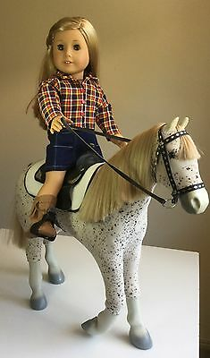 "Fit American Girl, Or Our Generation 18"" Doll Clothes. Shirt Skirt & Boots Only"