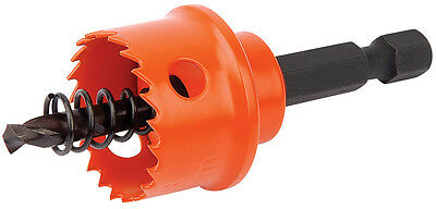 Genuine DRAPER Expert 22mm Bi-Metal Hole Saw with Integrated Arbor 34984
