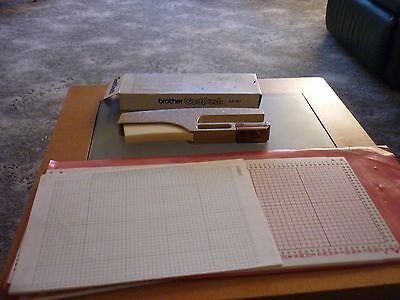 knitting machine card punch & 12 blank cards