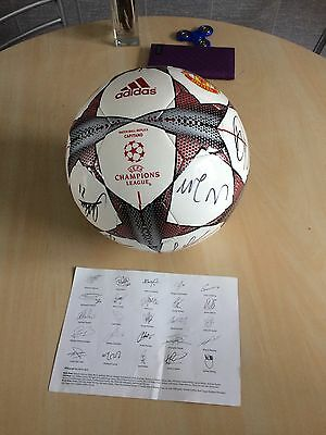 **signed Manchester United Football**