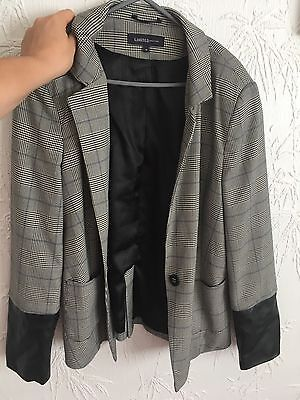 Size 14 Grey Tartan Jacket M&s Limited Collection