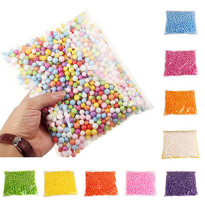 Multicolor DIY Micro Beads Crafts Polystyrene Styrofoam Filler Foam Balls AU