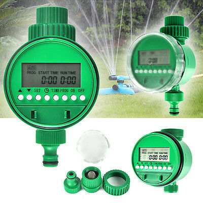 Digital Automatic Electronic LCD Garden Water Timer Plant Watering Irrigation UK