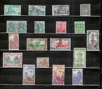 India Early Post-Independence: 18 Stamps