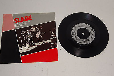 "SLADE CUM ON FEEL THE NOIZE + 2 tracks 1982 POLYDOR 7"" UK reissue, P/S"