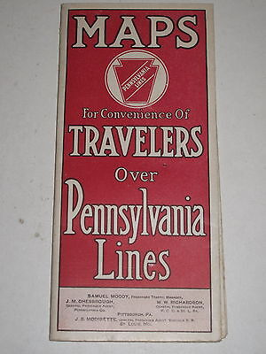 PENNSYLVANIA LINES MAPS FOR CONVENIENCE OF TRAVELLERS Railway Train Map