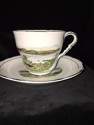 vintage ROYAL STAFFORD CHINA SOUVENIR Cape Hawke Forster NSW CUP & SAUCER