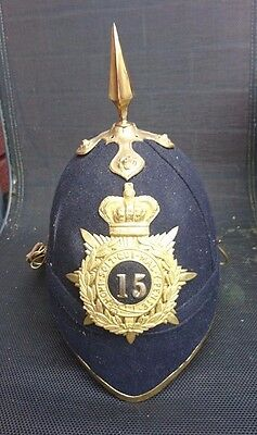 15th Regiment Victorian Blue Cloth Helmet- Officer's