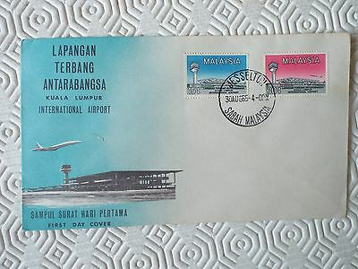 Malaysia Illustrated First Day Cover - Opening International Airport 1965 Sabah