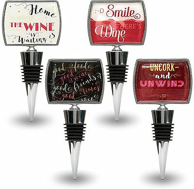 Kenley Wine Bottle Stoppers with Funny & Positive Quotes - Novelty Gift Boxed
