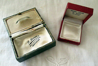 Lot De 2 Ecrins A Bijoux A Poussoir Antique Jewel Napoleoniii Boxes